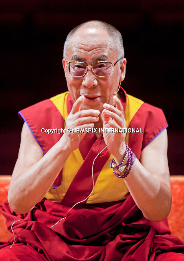 "Milan, Italy;26/06/2012: DALAI LAMA.Mandatory Credit Photo: ©Castelnuovo-Sestini/NEWSPIX INTERNATIONAL..**ALL FEES PAYABLE TO: ""NEWSPIX INTERNATIONAL""**..IMMEDIATE CONFIRMATION OF USAGE REQUIRED:.Newspix International, 31 Chinnery Hill, Bishop's Stortford, ENGLAND CM23 3PS.Tel:+441279 324672  ; Fax: +441279656877.Mobile:  07775681153.e-mail: info@newspixinternational.co.uk"