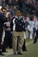 20 November 2004:  Joe Paterno looks at Mike McQuery..Penn State defeated Michigan State 37-13 November 20, 2004 at Beaver Stadium in State College, PA...