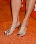 Actress Monica Potter 's shoes at the Turner Broadcasting TCA Party at The Oasis Courtyard at The Beverly Hilton Hotel on July 11, 2008 in Beverly Hills, California.