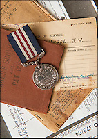 BNPS.co.uk (01202 558833)<br /> Pic: PhilYeomans/BNPS<br /> <br /> Sapper James Angel's WW2 Military Medal and military documents- including a citation signed by Monty.<br /> <br /> A nine-year-old girl's school project has led her family to find her war hero great-grandfather's gallantry medal they knew nothing about.<br /> <br /> Elizabeth Turner asked her grandmother Sheila Scott for help with her homework on World War Two and was told about a late relative who fought in Europe.<br /> <br /> James Angel was a modest man who rarely spoke about his experiences of war, including<br /> winning the Military Medal for one incredibly heroic action.<br /> <br /> Sapper Angel put himself in the line of fire when Allied soldiers were pinned down by Germans as they tried to cross the Rhine in Germany in March 1945.<br /> <br /> With great risk to his own life, he drew enemy fire away from his comrades by engaging them with his Bren gun and allowed the British to locate and silence the Germans.<br /> <br /> It is believed that after the war Mr Angel sold his Military Medal to help provide for his seven children.<br /> <br /> His family knew he once had a 'special medal' but had no idea what it was or was for until Elizabeth began her school project two weeks ago.<br /> --