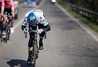 Matteo TRENTIN (ITA/Mitchelton-Scott) checking/repairing his handlebars angle on-the-move<br /> <br /> 110th Milano-Sanremo 2019 (ITA)<br /> One day race from Milano to Sanremo (291km)<br /> <br /> ©kramon