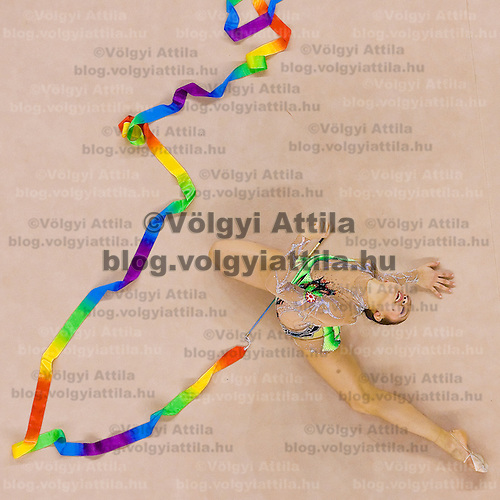 Aliya Garayeva (AZE) performs with the ribbon during the final of the 2nd Garantiqa Rythmic Gymnastics World Cup held in Debrecen, Hungary. Sunday, 07. March 2010. ATTILA VOLGYI