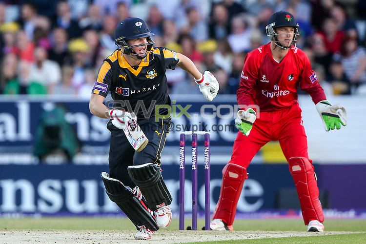 Picture by Alex Whitehead/SWpix.com - 05/06/2015 - Cricket - NatWest T20 Blast - Yorkshire Vikings v Lancashire Lightning - Headingley Cricket Ground, Leeds, England - Yorkshire's Gary Ballance adds runs.