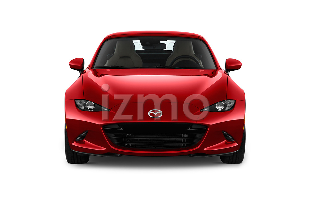 Car photography straight front view of a 2019 Mazda MX-5-Miata-RF Grand-Touring 2 Door Targa Front View