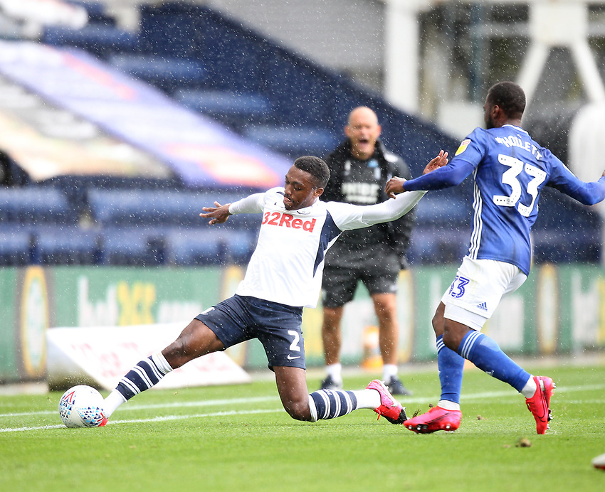Photographer Mick Walker/CameraSport<br /> <br /> The EFL Sky Bet Championship - Preston North End v Cardiff  City - Saturday 27th June 2020 - Deepdale Stadium - Preston<br /> <br /> World Copyright © 2020 CameraSport. All rights reserved. 43 Linden Ave. Countesthorpe. Leicester. England. LE8 5PG - Tel: +44 (0) 116 277 4147 - admin@camerasport.com - www.camerasport.com