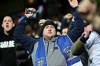 Leeds United fans celebrate<br /> <br /> Photographer Alex Dodd/CameraSport<br /> <br /> The EFL Sky Bet Championship - Leeds United v Middlesbrough - Saturday 30th November 2019 - Elland Road - Leeds<br /> <br /> World Copyright © 2019 CameraSport. All rights reserved. 43 Linden Ave. Countesthorpe. Leicester. England. LE8 5PG - Tel: +44 (0) 116 277 4147 - admin@camerasport.com - www.camerasport.com