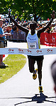 Roger Crowley/Times Argus.Caroline Chemwolo of Kenya captured the individual women's title at the 20th Annual KeyBank Vermont City Marathon Sunday in Burlington.