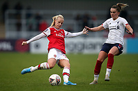 Beth Mead of Arsenal and Melissa Lawley of Liverpool during Arsenal Women vs Liverpool Women, Barclays FA Women's Super League Football at Meadow Park on 24th November 2019