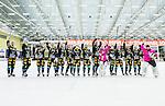 V&auml;ster&aring;s 2015-01-11 Bandy Elitserien V&auml;ster&aring;s SK  - Broberg S&ouml;derhamn :  <br /> Broberg S&ouml;derhamns spelare jublar framf&ouml;r Broberg S&ouml;derhamns supportrar efter matchen mellan V&auml;ster&aring;s SK  och Broberg S&ouml;derhamn <br /> (Foto: Kenta J&ouml;nsson) Nyckelord:  Bandy Elitserien ABB Arena Syd V&auml;ster&aring;s SK VSK Broberg S&ouml;derhamn jubel gl&auml;dje lycka glad happy