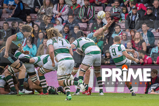 Match action from the Friendly match between Harlequins and Ealing Trailfinders at Twickenham Stoop, London, England on 24 August 2018. Photo by Jeremy Nako / PRiME Media Images
