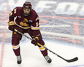 Alex Iafallo (UMD - 14) - The University of Denver Pioneers defeated the University of Minnesota Duluth Bulldogs 3-2 to win the national championship on Saturday, April 8, 2017, at the United Center in Chicago, Illinois.