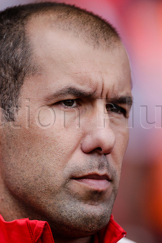 03.08.2014. London, England. Emirates Cup.  Arsenal versus AS Monaco.   AS Monaco's new manager Leonardo JARDIM  With Monaco winning 0-1 against Arsenal and Valencia winning earlier in the day, Valencia won the tournament trophy.