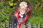 Nicolas Fitzgerald waiting to pounce on people at the Knocknagoshel Halloween festival on Sunday night