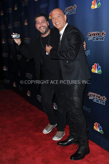 WWW.ACEPIXS.COM<br /> September 10, 2014 New York City<br /> <br /> Alex Mandel and Howie Mandel attending the 'America's Got Talent' post show red carpet at Radio City Music Hall in New York City on September 10, 2014.<br /> <br /> By Line: Kristin Callahan/ACE Pictures<br /> ACE Pictures, Inc.<br /> tel: 646 769 0430<br /> Email: info@acepixs.com<br /> www.acepixs.com<br /> Copyright:<br /> Kristin Callahan/ACE Pictures