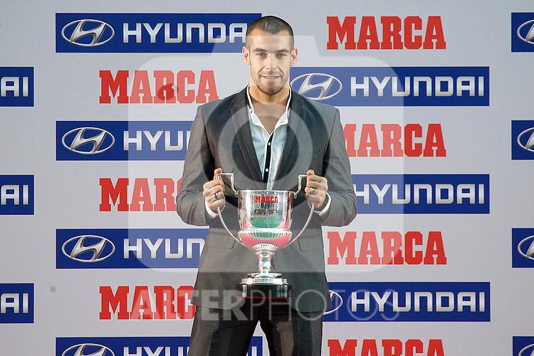 Premios Marca del Futbol 2011. Alvaro Negredo, Spain's best scorer...Photo: Cesar Cebolla / ALFAQUI
