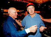 STS-95 Payload Specialist John H. Glenn Jr. (left) greets baseball legend Ted Williams at a reception at the Double Tree Oceanfront Hotel following a parade down State Road A1A in nearby Cocoa Beach on December 11, 1998. Organizers of the parade included the Cocoa Beach Area Chamber of Commerce, the Brevard County Tourist Development Council, and the cities of Cape Canaveral and Cocoa Beach. The parade is reminiscent of those held after missions during the Mercury Program..Credit: NASA via CNP