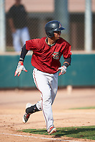Arizona Diamondbacks Luis Tejeda (6) during an Instructional League game against the Colorado Rockies on October 7, 2016 at Salt River Fields at Talking Stick in Scottsdale, Arizona.  (Mike Janes/Four Seam Images)