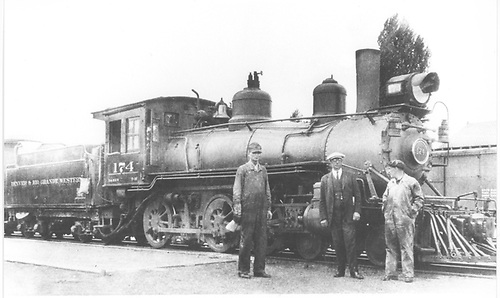Engine #174 win crew.<br /> D&amp;RGW