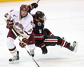 Brian Dumoulin (BC - 2), Kyle Kraemer (NU - 16) - The Boston College Eagles defeated the Northeastern University Huskies 5-1 on Saturday, November 7, 2009, at Conte Forum in Chestnut Hill, Massachusetts.