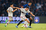 Giacomo Bonaventura of AC Milan (L) competes for the ball with Juan Guilherme Nunes of FC Internazionale Milano (R) during the AC Milan vs FC Internacionale as part of the International Champions Cup 2015 at the looks onnggang Stadium on July 25, 2015 in Shenzhen, China.  Photo by Aitor Alcalde / Power Sport Images