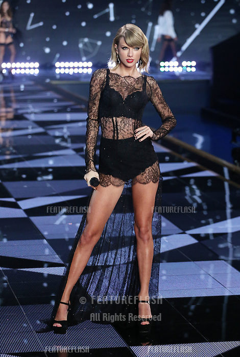 Taylor Swift on the runway at the Victoria's Secret Fashion Show 2014 London held at Earl's Court, London. 02/12/2014 Picture by: James Smith / Featureflash