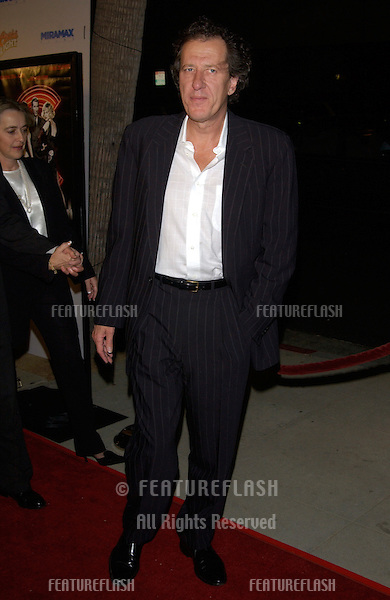 Actor GEOFFREY RUSH at the Los Angeles premiere of Chicago..10DEC2002.  © Paul Smith / Featureflash