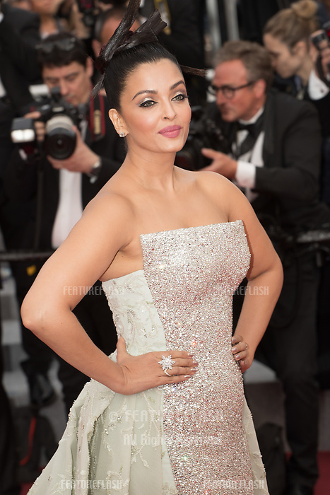 CANNES, FRANCE - MAY 13: Aishwarya Rai attends the screening of 'Sink Or Swim (Le Grand Bain)' during the 71st annual Cannes Film Festival at Palais des Festivals on May 13, 2018 in Cannes, France.<br /> Picture: Kristina Afanasyeva/Featureflash/SilverHub 0208 004 5359 sales@silverhubmedia.com