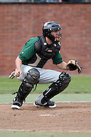 February 21, 2010:  Catcher Kyle Barbato (25) of the Siena Saints during a game at Melching Field at Conrad Park in DeLand, FL.  Siena lost to Stetson by the score of 8-7.  Photo By Mike Janes/Four Seam Images