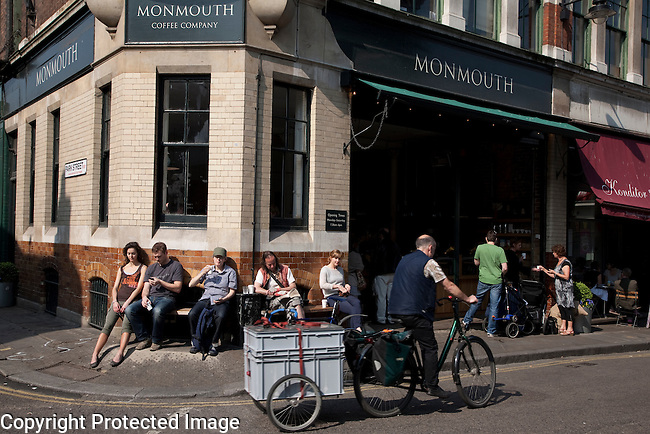 Monmouth Coffee Company Shop in Park Street, Borough Market, London, UK