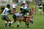 S. Tualalilelei is taken in atackle. Counties Manukau Premier Club Rugby, Pukekohe v Manurewa  played at the Colin Lawrie field, on the 17th of April 2006. Manurewa won 20 - 18.