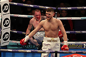 2nd February 2019 The O2 Arena, London, England; Boxing, European Super-Welterweight Championship, Sergio Garcia versus Ted Cheeseman; Undercard fight as  John Doherty wins in the first round by TKO against Przemyslaw Binienda