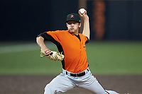 Frederick Keys relief pitcher Tyler Erwin (47) in action against the Buies Creek Astros at Jim Perry Stadium on April 28, 2018 in Buies Creek, North Carolina. The Astros defeated the Keys 9-4.  (Brian Westerholt/Four Seam Images)