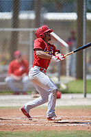 St. Louis Cardinals Nick Plummer (21) during a Minor League Spring Training game against the Miami Marlins on March 26, 2018 at the Roger Dean Stadium Complex in Jupiter, Florida.  (Mike Janes/Four Seam Images)