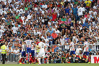 Atletico de Madrid during La Liga match between Real Madrid and Atletico de Madrid at Santiago Bernabeu stadium in Madrid, Spain. September 13, 2014. (ALTERPHOTOS/Caro Marin)