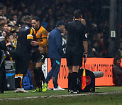 5th February 2019, Rodney Parade, Newport, Wales; FA Cup football, 4th round replay, Newport County versus Middlesbrough; Robbie Willmott of Newport County is congratulated by Michael Flynn, Manager of Newport County after being substituted off