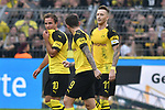 06.10.2018, Signal Iduna Park, Dortmund, GER, DFL, BL, Borussia Dortmund vs FC Augsburg, DFL regulations prohibit any use of photographs as image sequences and/or quasi-video<br /> <br /> im Bild Mario G&ouml;tze / Goetze (#10, Borussia Dortmund) jubelt nach seinem Tor zum 3:2<br /> <br /> Foto &copy; nph/Horst Mauelshagen
