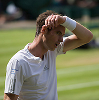 ANDY MURRAY (GBR)<br /> <br /> The Championships Wimbledon 2014 - The All England Lawn Tennis Club -  London - UK -  ATP - ITF - WTA-2014  - Grand Slam - Great Britain -  2nd July 2014. <br /> <br /> &copy; Tennis Photo Network