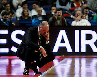 Real Madrid's Pablo Laso during Euroliga match. February 28,2013.(ALTERPHOTOS/Alconada)