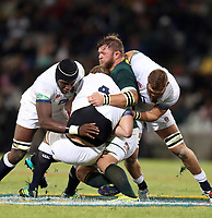Duane Vermeulen of South Africa looks to tackle Joe Launchbury of England during the 2018 Castle Lager Incoming Series 2nd Test match between South Africa and England at the Toyota Stadium.Bloemfontein,South Africa. 16,06,2018 Photo by Steve Haag / stevehaagsports.com