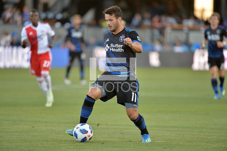 San Jose, CA - Wednesday June 13, 2018: Vako during a Major League Soccer (MLS) match between the San Jose Earthquakes and the New England Revolution at Avaya Stadium.
