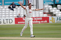 Matt Quinn of Essex celebrates taking the wicket of Liam Banks during Essex CCC vs Warwickshire CCC, Specsavers County Championship Division 1 Cricket at The Cloudfm County Ground on 14th July 2019