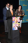 """Producer Scott M. Delman, producer Robyn Goodman and producer Amanda Lipitz attends press event to introduce the cast and creators of the new Broadway play """"The Performers""""at the Hard Rock Cafe on Tuesday, Sept. 25, 2012 in New York."""