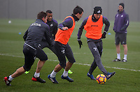 Jay Fulton (R) in action during the Swansea City Training at The Fairwood Training Ground, Swansea, Wales, UK. Wednesday 22 February 2017