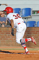 Virgil Hill against the Elizabethton Twins  during the Appalachian League Championship. Johnson City  won 6-2 at Howard Johnson Field, Johnson City Tennessee