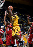 Afure Jemerigbe shoots the ball during the game against St. Mary's at Haas Pavilion in Berkeley, California on November 15th, 2012.  California defeated St. Mary's, 89-41.