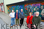 Members of the Athea Tidy Towns display their newly refurbished mura in the town on Monday.<br /> Front Jim and Liz Dunne Damien Ahern.<br /> Back l to r: John Scanlon, Damien Ahern and John Collins