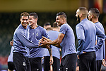 Cristiano Ronaldo of Real Madrid jokes with Casemiro of Real Madrid during the training session ahead the UEFA Champions League Final between Real Madrid and Juventus at the National Stadium of Wales, Cardiff, Wales on 2 June 2017. Photo by Giuseppe Maffia.<br /> Giuseppe Maffia/UK Sports Pics Ltd/Alterphotos