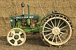 Shavuot celebration in Nahalal, 1936 Oliver 80 tractor on display