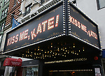 "Theatre Marquee for the Broadway Opening Night of ""Kiss Me, Kate""  at Studio 54 on March 14, 2019 in New York City."