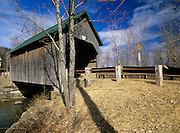Bowers or Brownsville Covered Bridge in Brownsville, Vermont USA on Bible Hill Road, which crosses over Mill Brook.